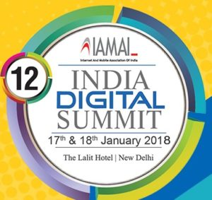 12th India Digital Summit @ The Lalit Hotel | New Delhi | Delhi | India